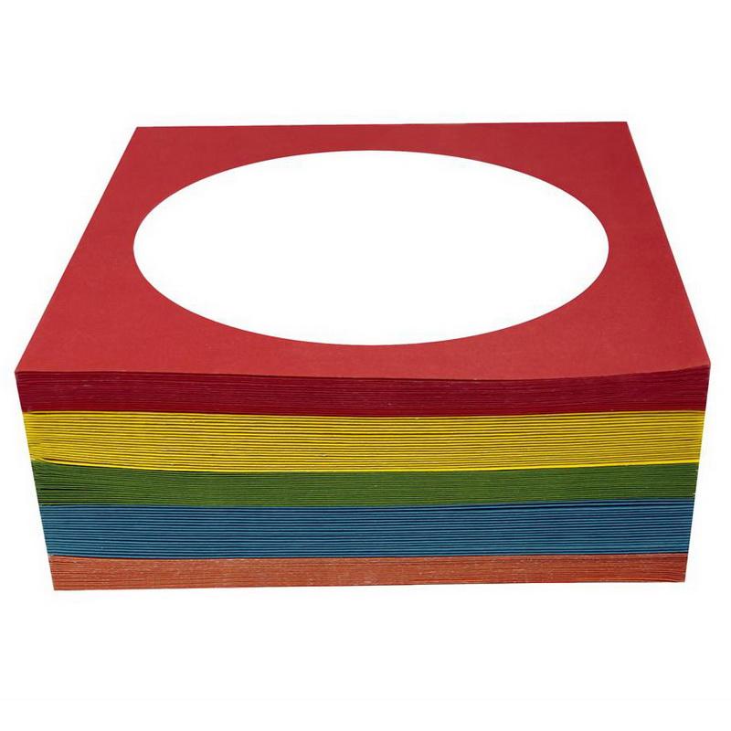 CD/DVD papīra aploksnes ESPERANZA, ar lodziņu, 100 gab./iepak., krāsainas