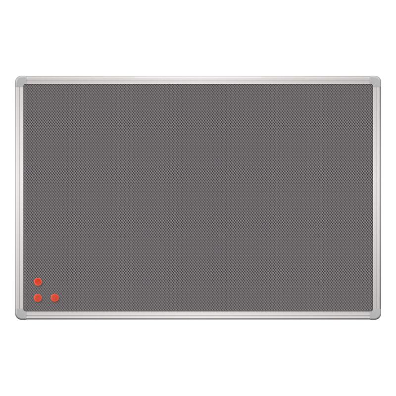 Magnētiska sieta tāfele PinMag 2x3 sudraba rāmī, 60 x 90 cm