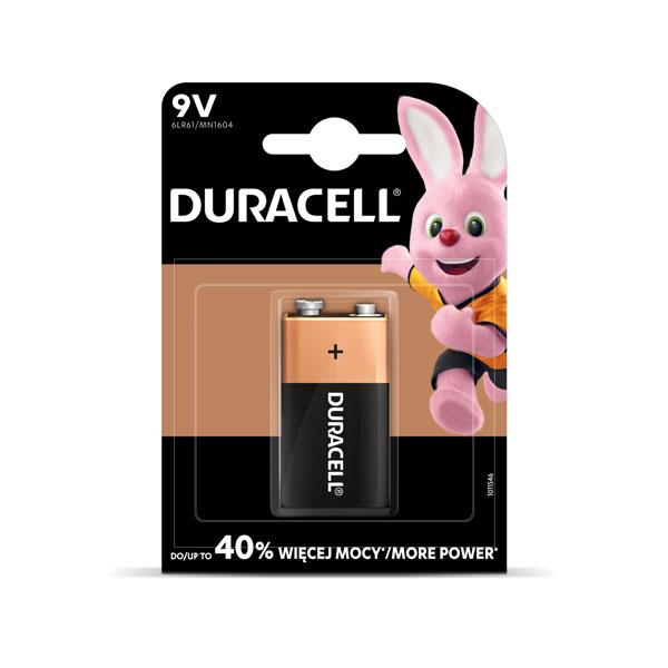 Baterija DURACELL 9V, LR61, 1 gab./iepak.