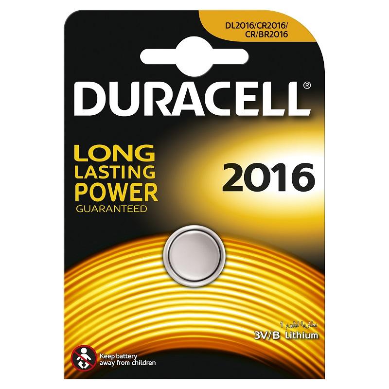 Baterija DURACELL DL 2016, 1 gab./iepak.