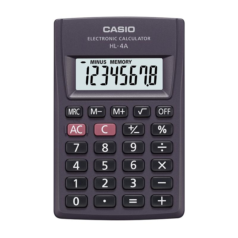 Kabatas kalkulators CASIO HL-4A, 56 x 87 x 9 mm