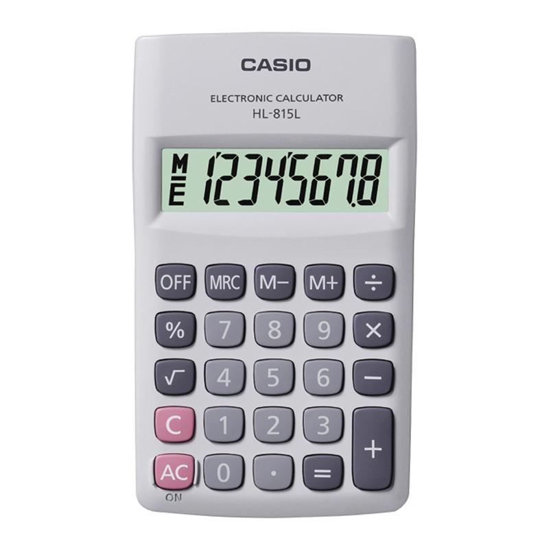 Kabatas kalkulators CASIO HL-815L, 70 x 118 x 18 mm, balts
