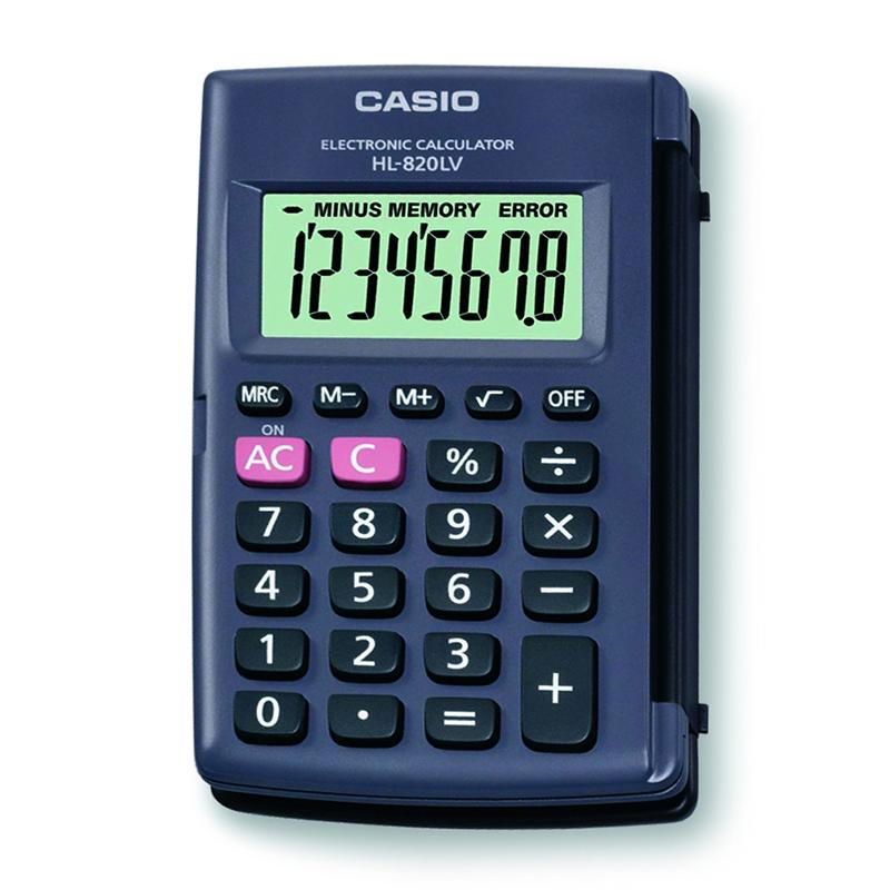 Kabatas kalkulators CASIO HL-820LV, 63 x 104 x 10 mm