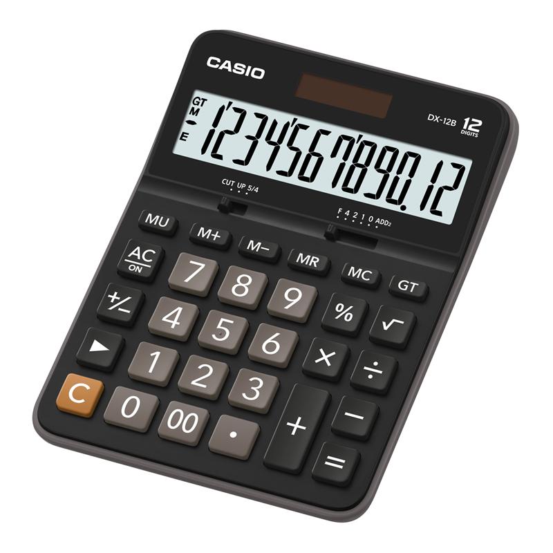 Galda kalkulators CASIO DX-12B, 129 x 175 x 33 mm