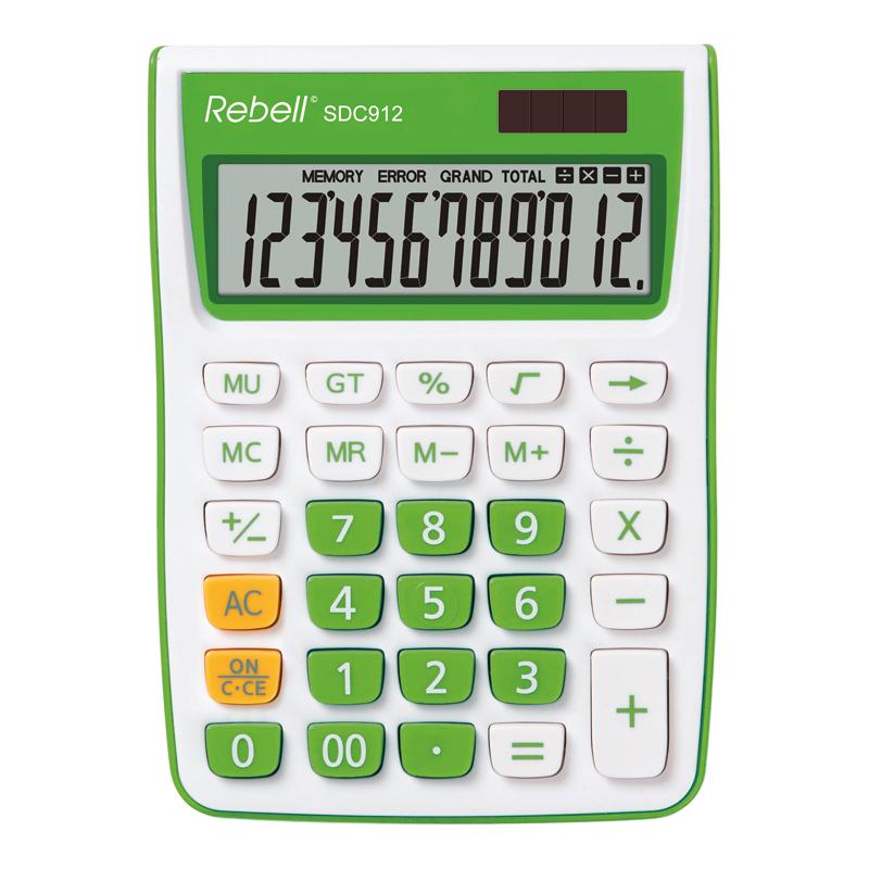 Galda kalkulators REBELL RE-SDC912GR BX
