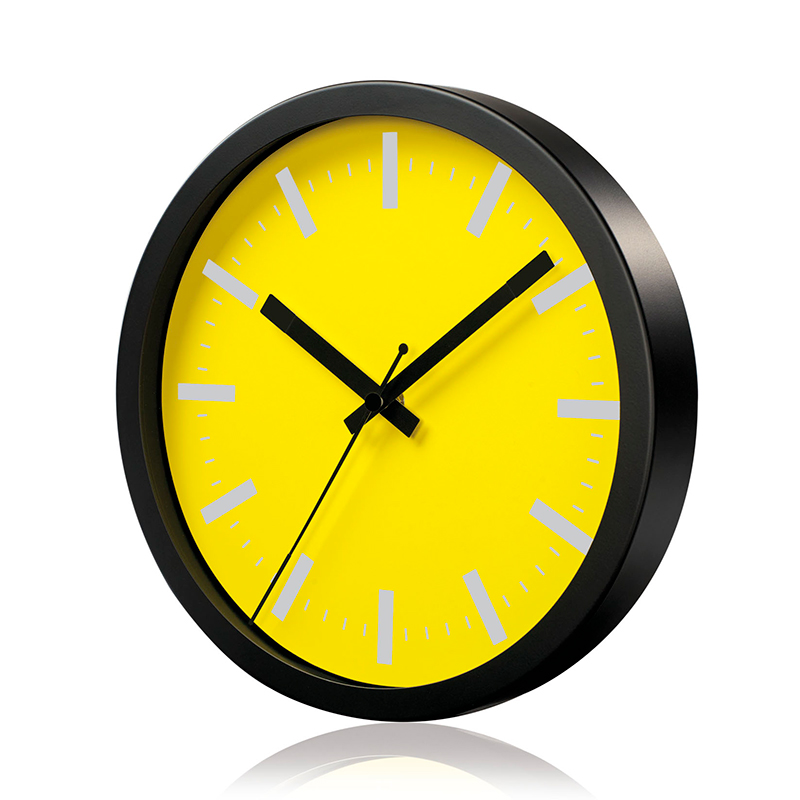 Sienas pulkstenis SAINT-TROPEZ, diametrs 25 cm, dzeltens
