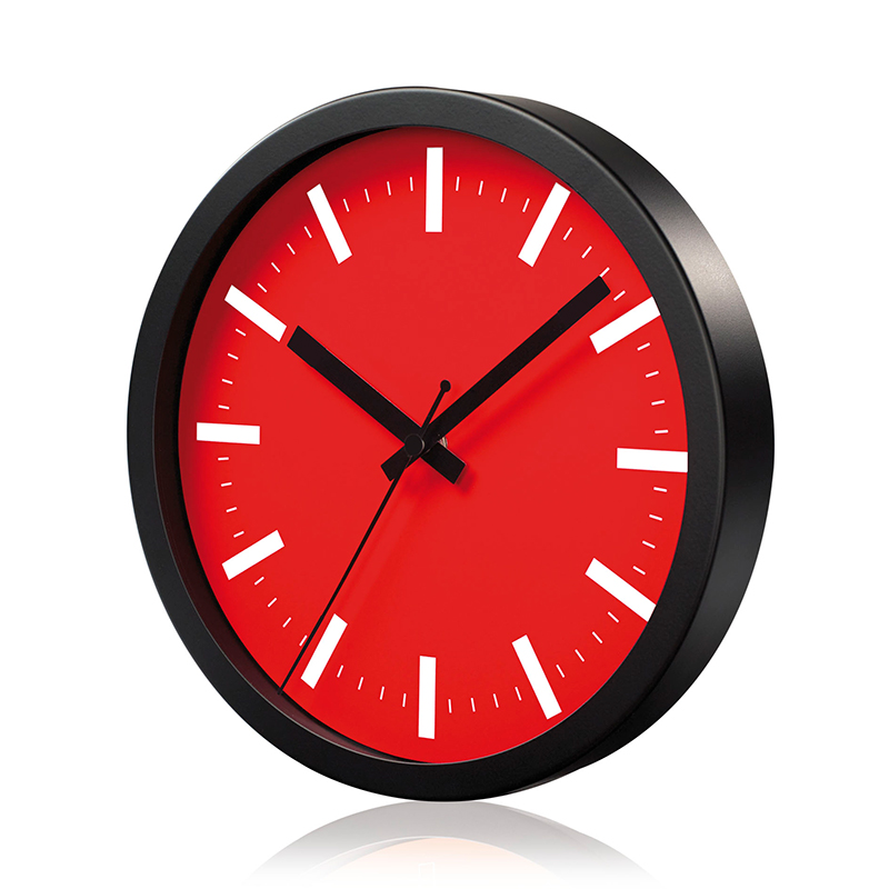 Sienas pulkstenis SAINT-TROPEZ, diametrs 25 cm, sarkans