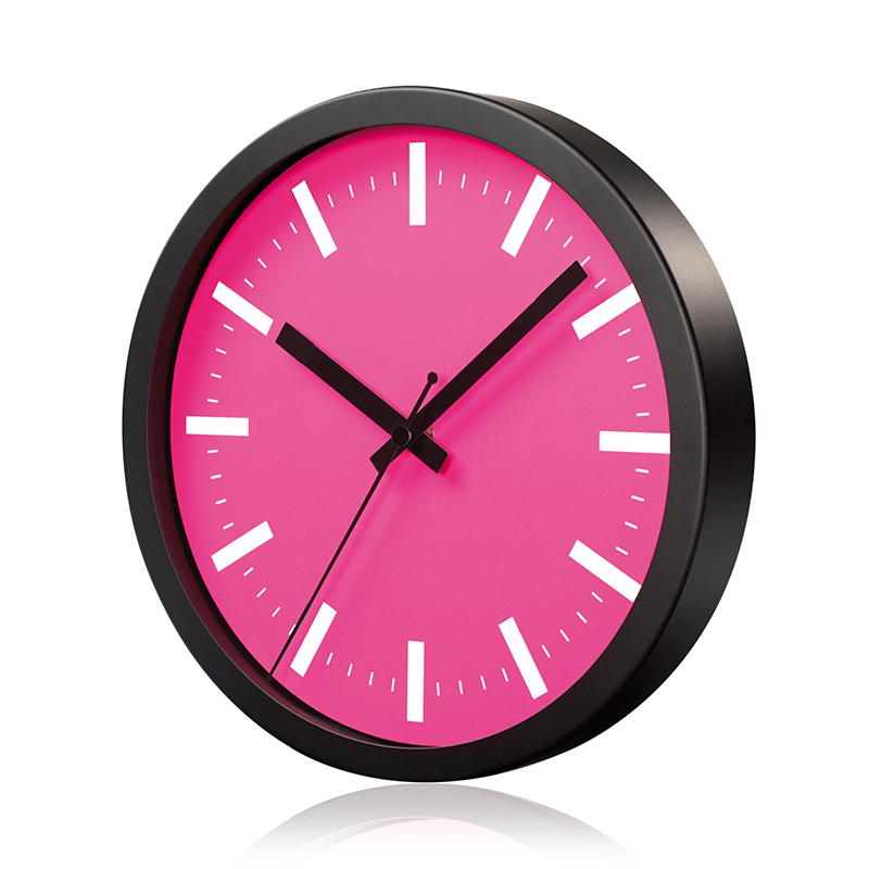 Sienas pulkstenis SAINT-TROPEZ, diametrs 25 cm, rozā