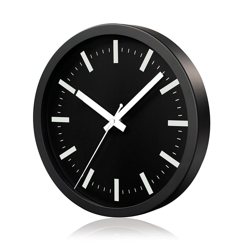 Sienas pulkstenis SAINT-TROPEZ, diametrs 25 cm, melns