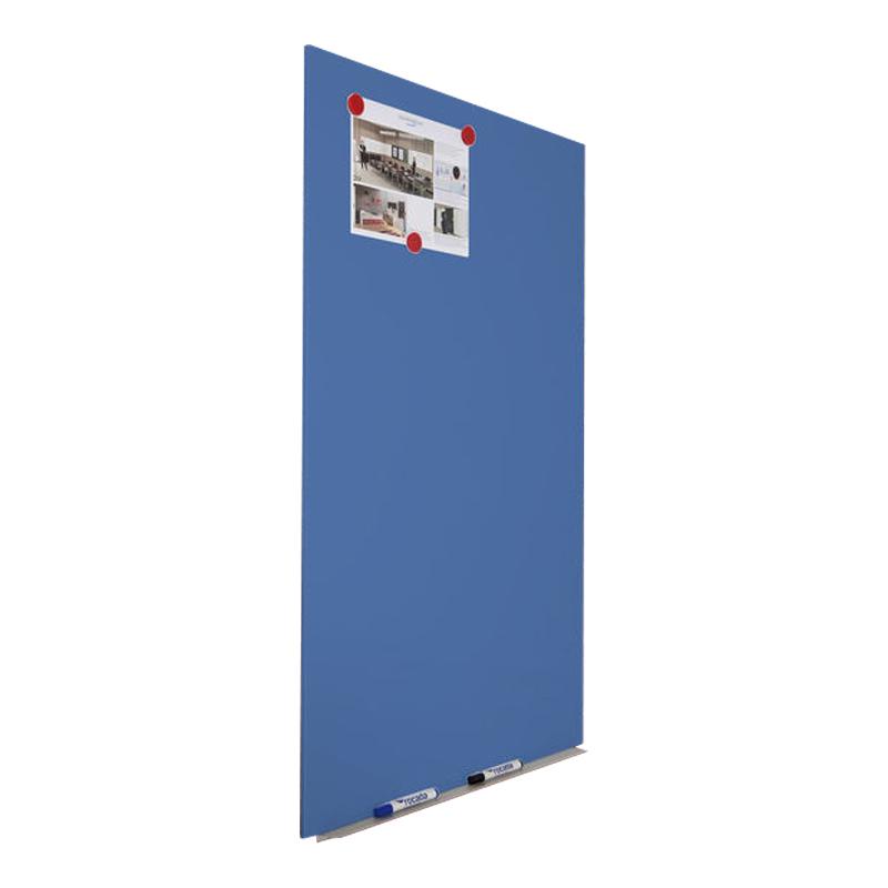 Magnētiskā tāfele ROCADA Skin Color, 75 x 115 cm, lakota virsma, zilā krāsa