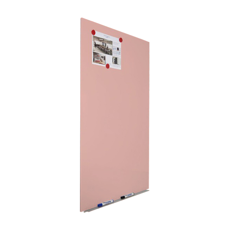 Magnētiskā tāfele ROCADA Skin Color, 75 x 115 cm, lakota virsma, rozā krāsa