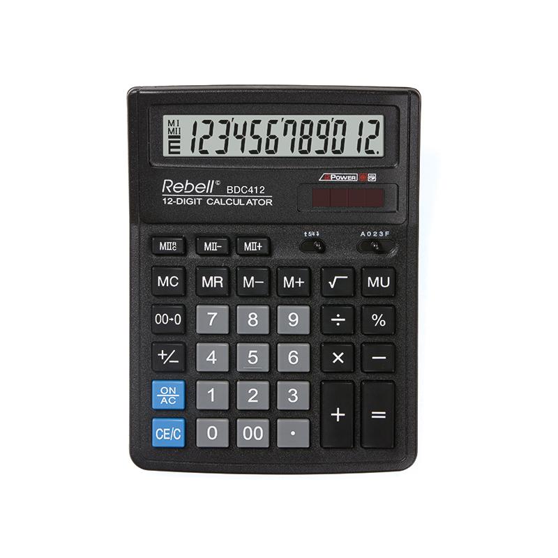 Galda kalkulators REBELL RE-BDC412 BX