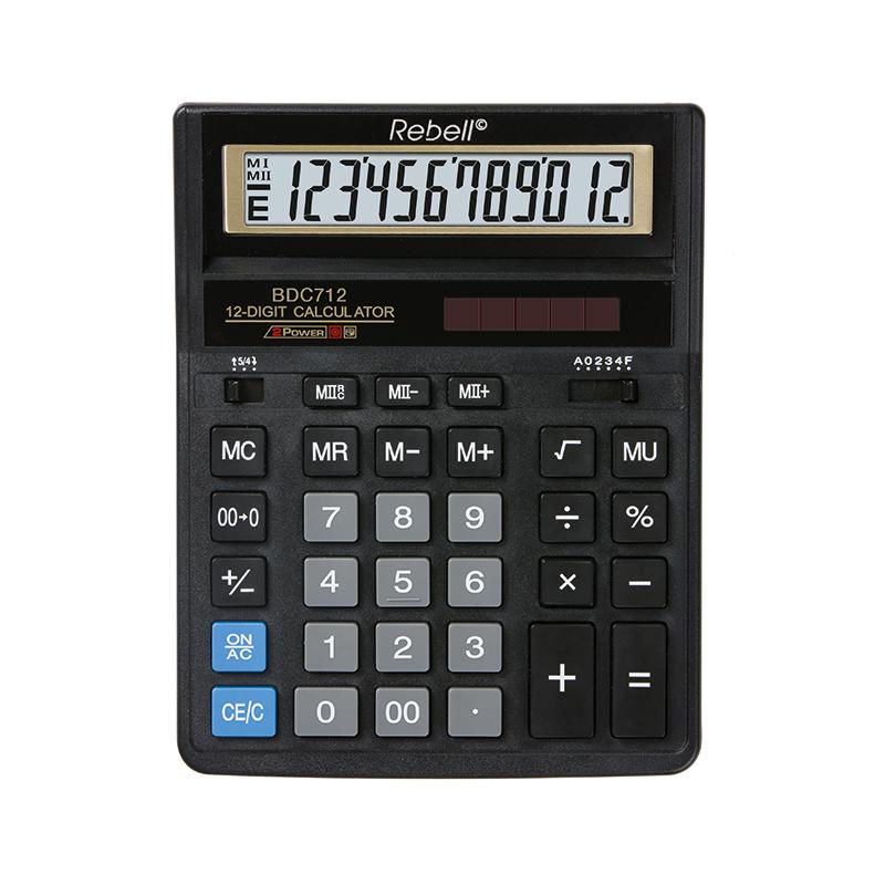 Galda kalkulators REBELL RE-BDC712GL BX