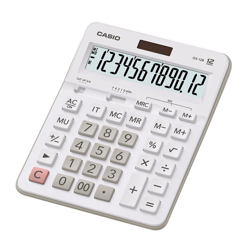 Galda kalkulators CASIO GX-12B, balts