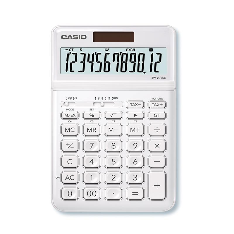 Kalkulators CASIO JW-200SC, balts