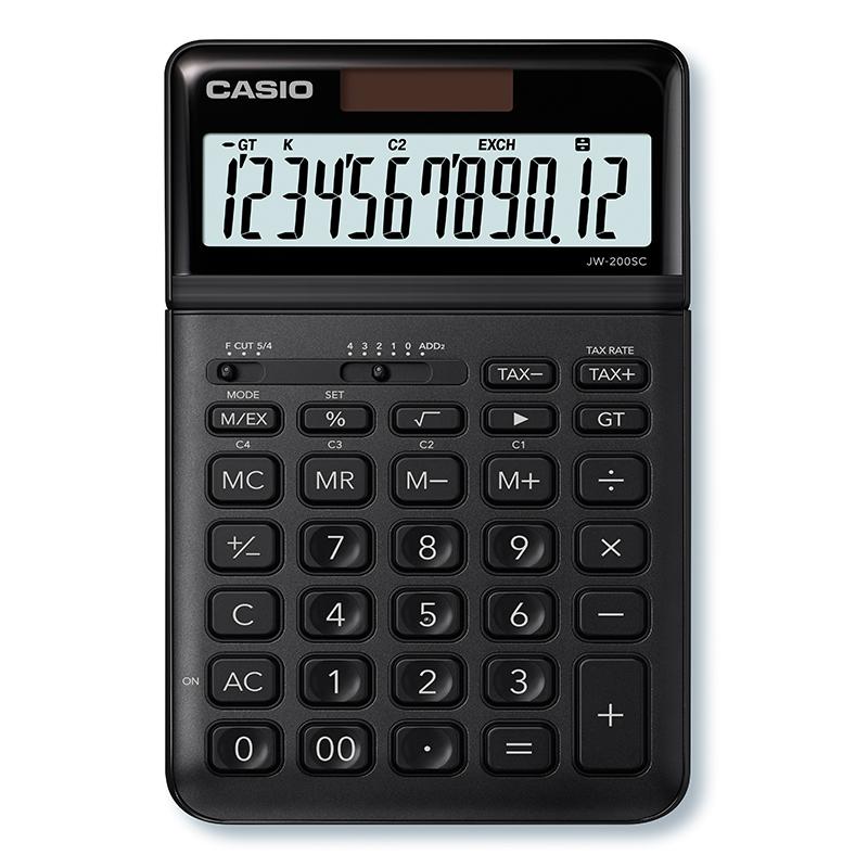 Kalkulators CASIO JW-200SC, melns