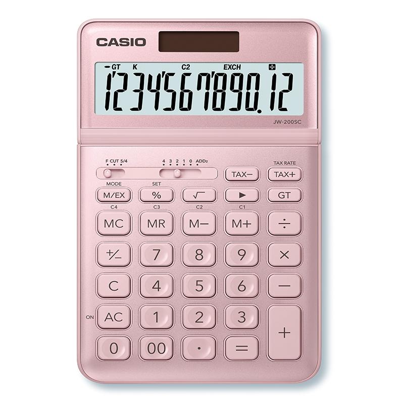 Kalkulators CASIO JW-200SC, rozā krāsa