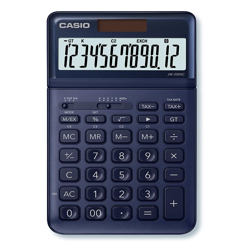Kalkulators CASIO JW-200SC, tumši zils