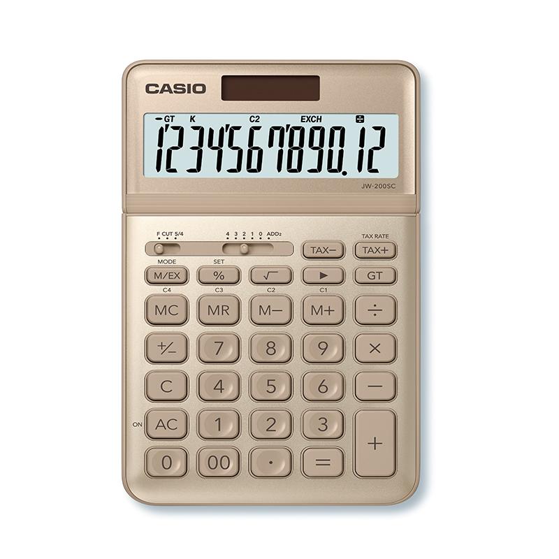Kalkulators CASIO JW-200SC, zelta krāsa