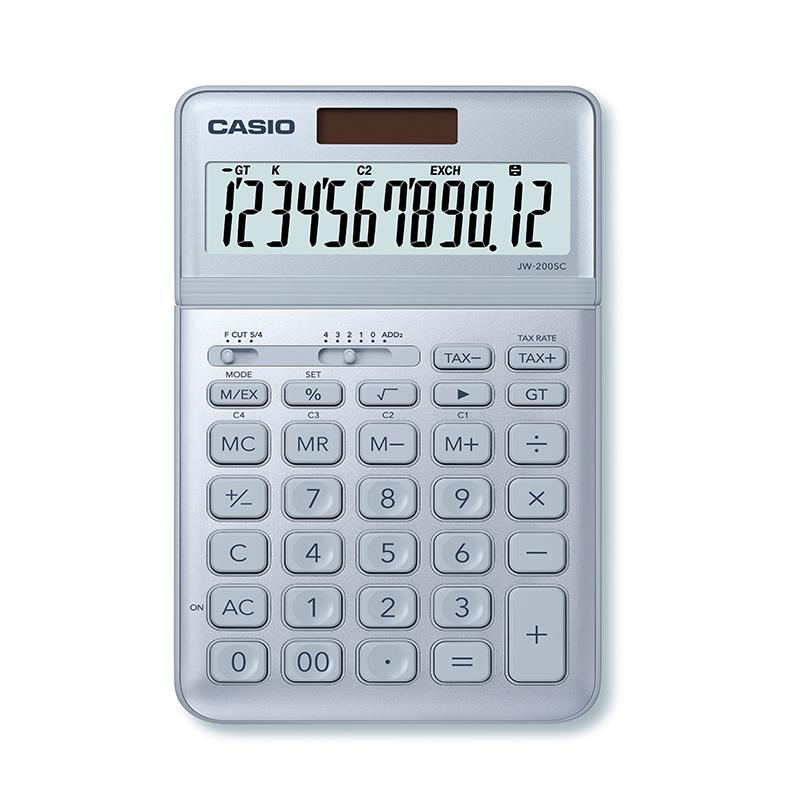 Kalkulators CASIO JW-200SC, gaiši zils