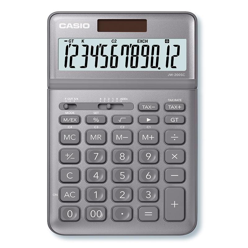 Kalkulators CASIO JW-200SC, pelēks