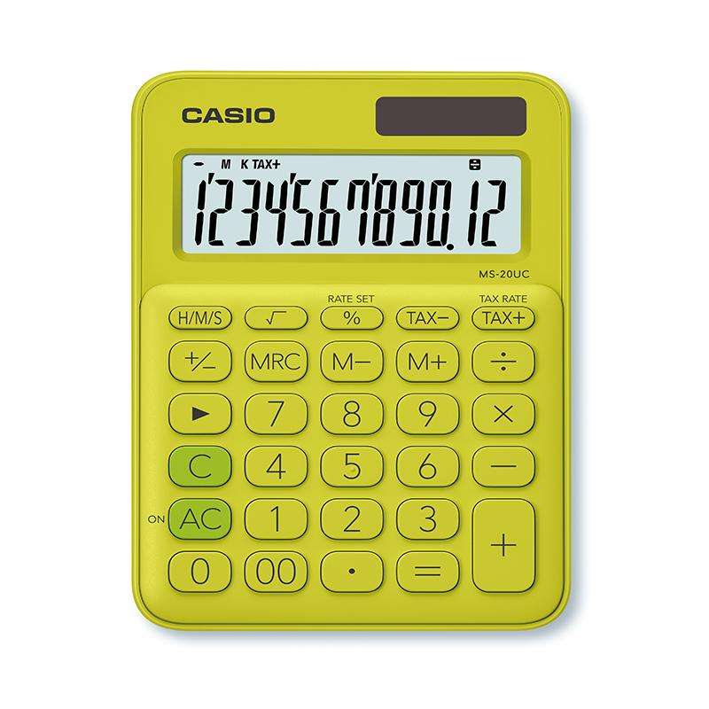 Kalkulators CASIO MS-20UC, 105 x 150 x 23 mm, gaiši zaļš