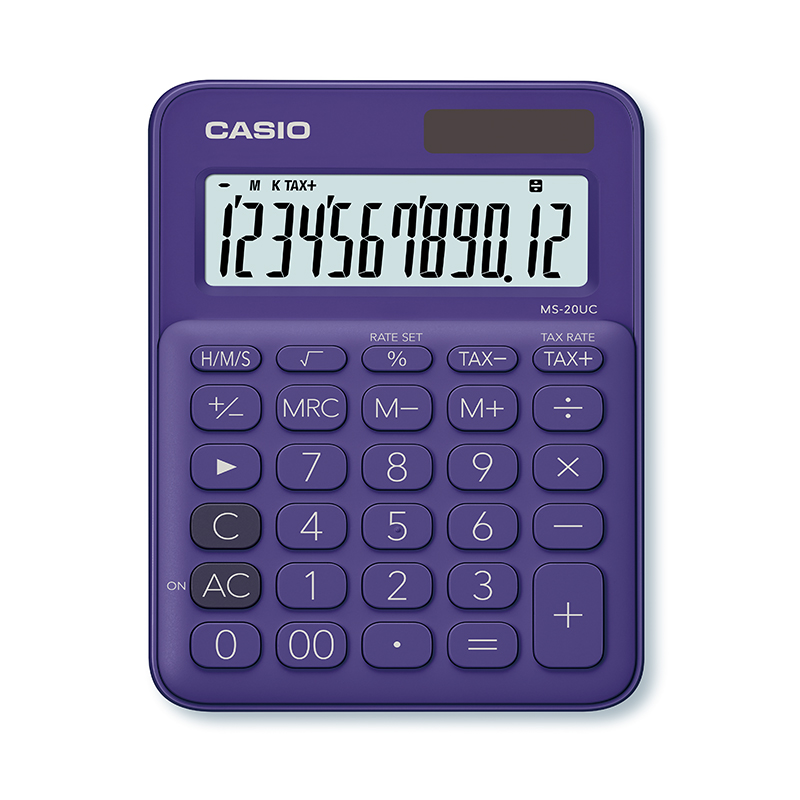 Kalkulators CASIO MS-20UC, 105 x 150 x 23 mm, violets