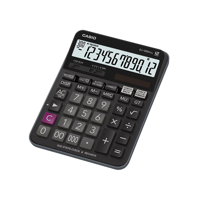 Galda kalkulators CASIO DJ-120D+, 36.5 x 144 x 192 mm, melns