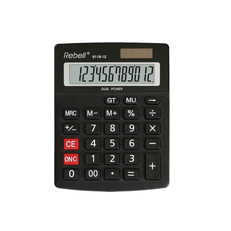 Galda kalkulators REBELL 8118-12