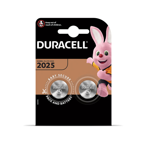 Baterija DURACELL 2025 2 gab.