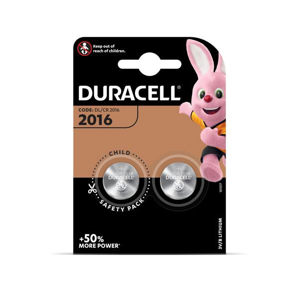 Baterija DURACELL 2016, 2 gab.