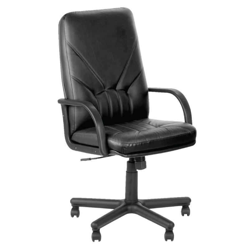 Biroja krēsls MANAGER, melna āda