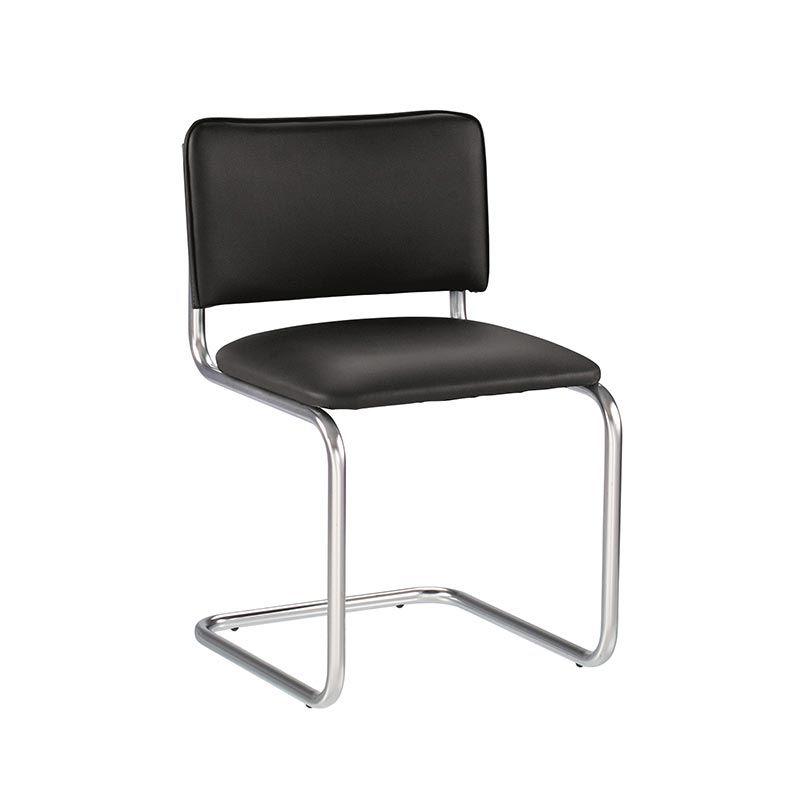 Krēsls NOWY STYL SYLWIA, melnas ādas imitācija