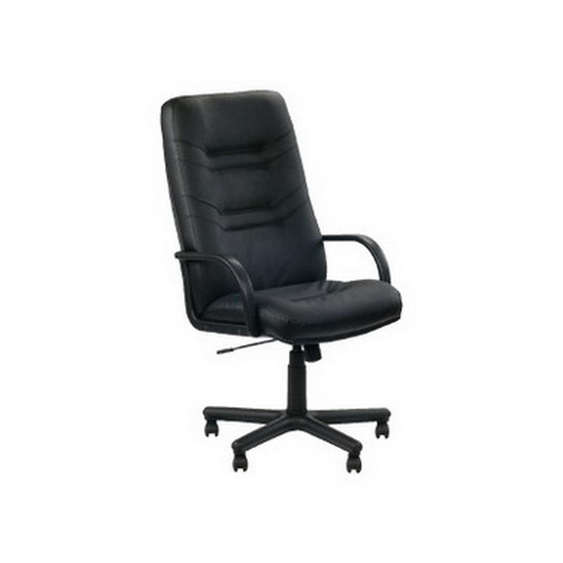 Biroja krēsls MINISTER, melna āda