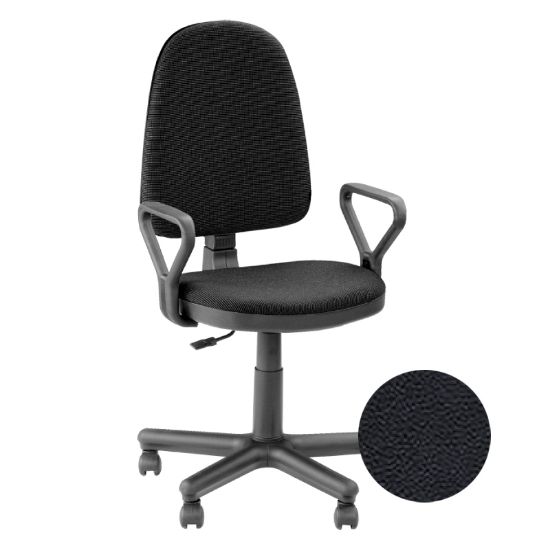 Krēsls NOWY STYL PRESTIGE GTP V-14, melnas ādas imitācija