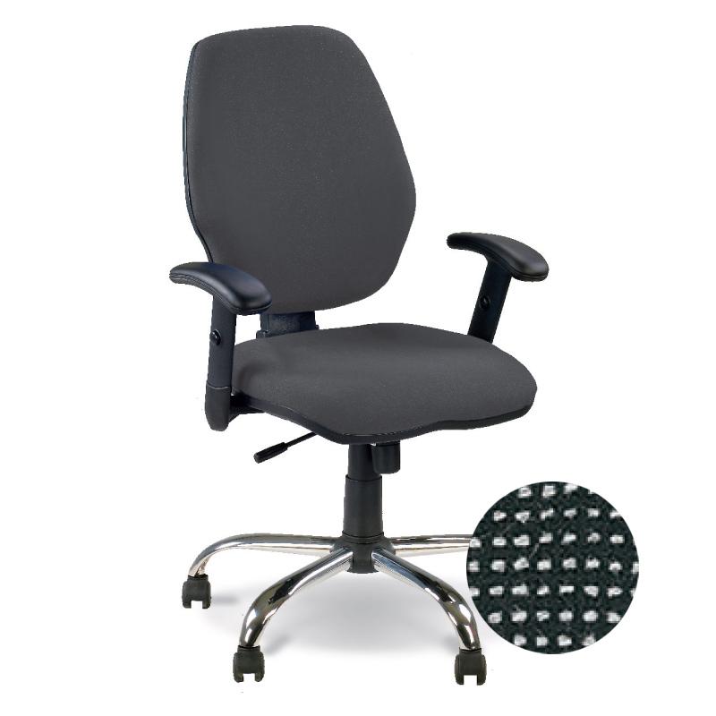 Krēsls NOWY STYL MASTER C-26, GTR window chrome melns/pelēks