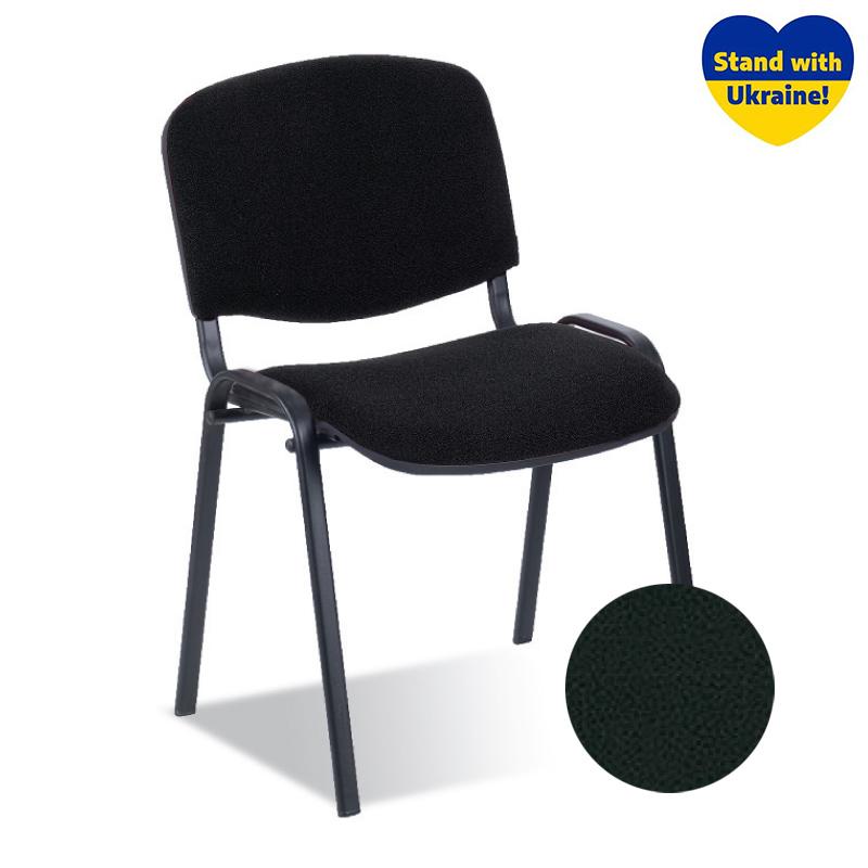 Krēsls NOWY STYL ISO BLACK V-4, melnas ādas imitācija