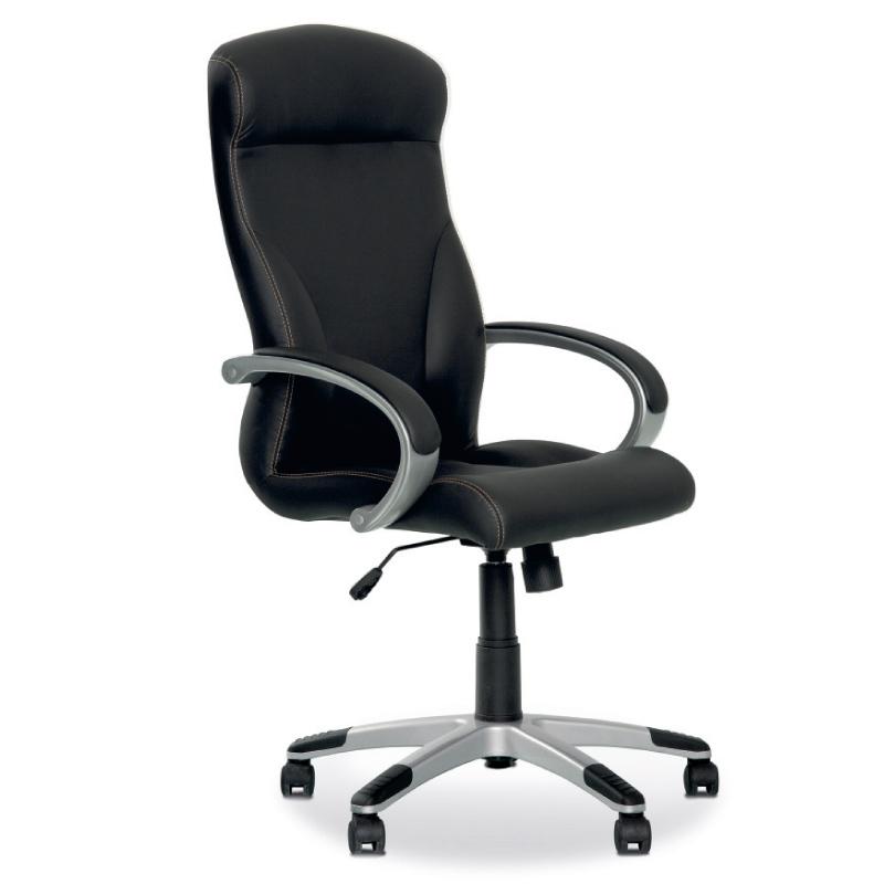 Biroja krēsls NOWY STYL RIGA melns ādas aizvietotājs ECO30