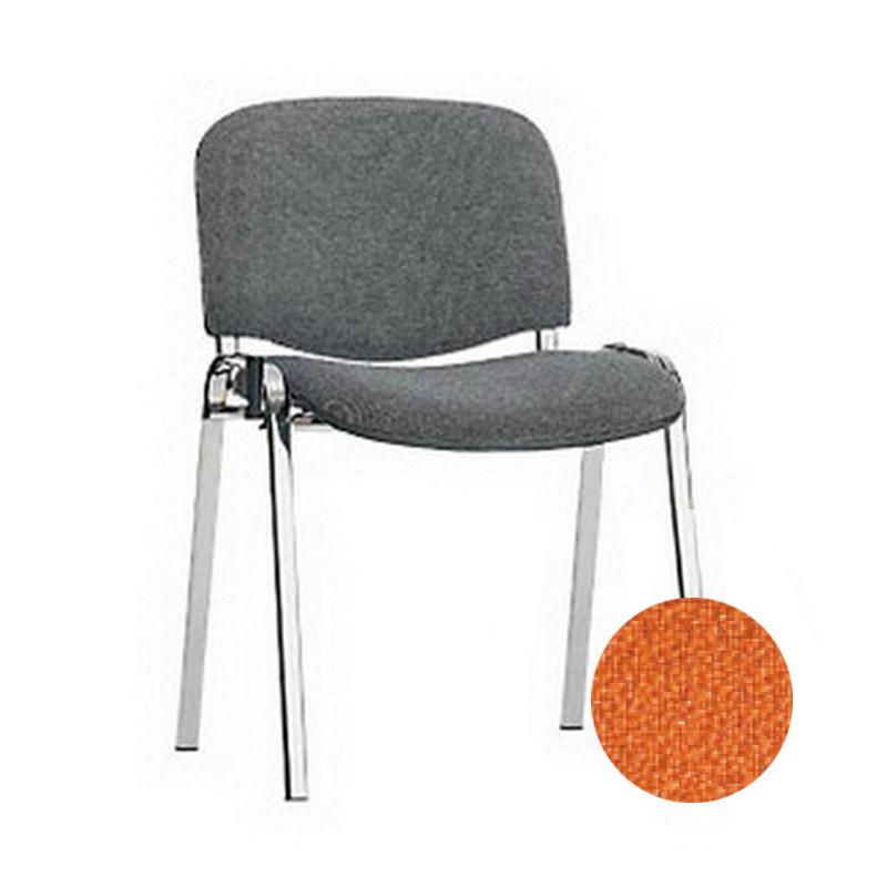 Konferenču krēsls NOWY STYL ISO BLACK oranža krāsa ZT-02