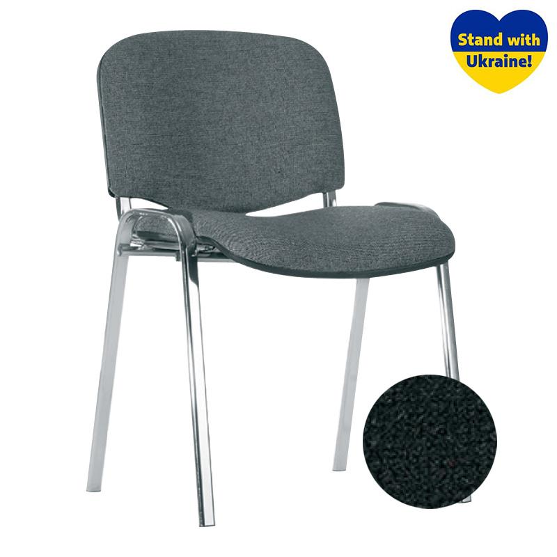 Konferenču krēsls NOWY STYL ISO Chrome melnas ādas imitācija