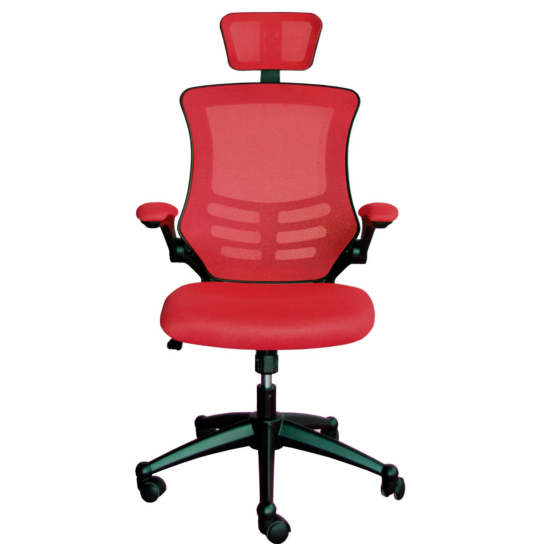 Biroja krēsls Office4You RAGUSA gaiši sarkana krāsa, audums