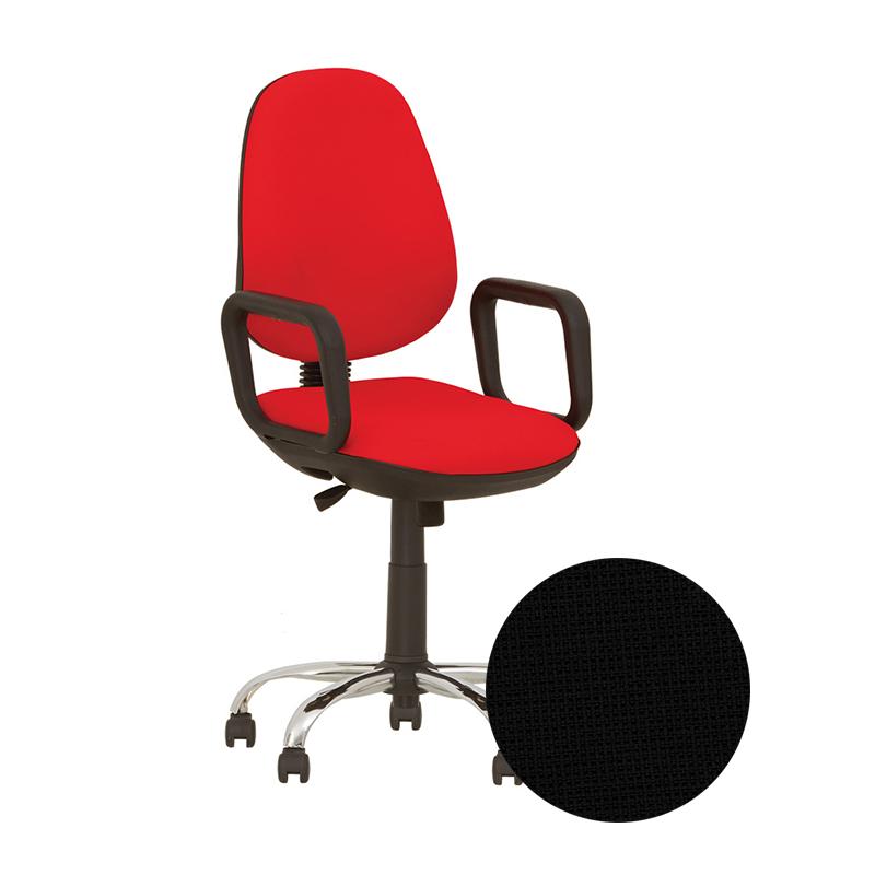 Krēsls NOWY STYL COMFORT CHROME GTP (active-1) CN-9, melns