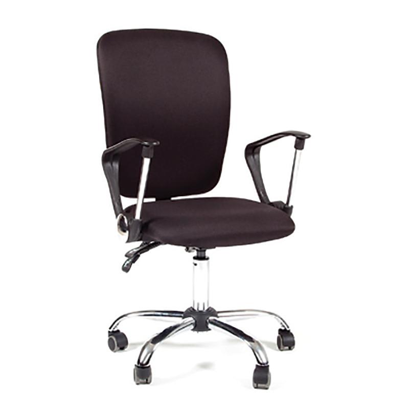 Biroja krēsls CHAIRMAN 9801 melns audums, melna pamatne