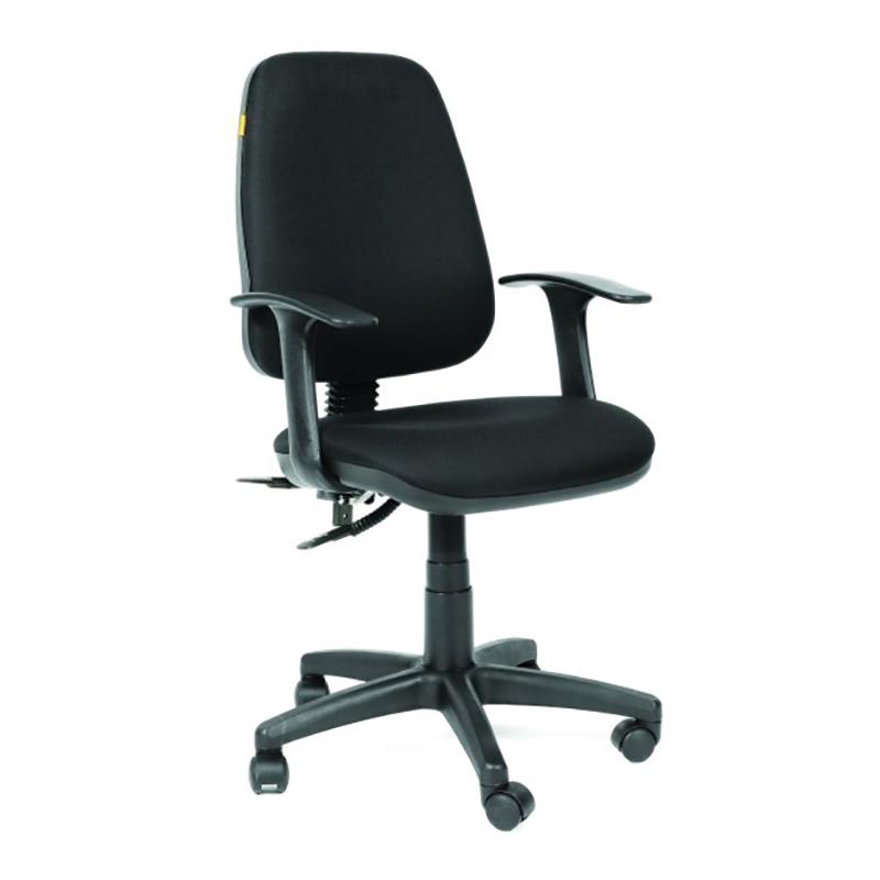 Biroja krēsls CHAIRMAN 661 melns pamats, melns audums