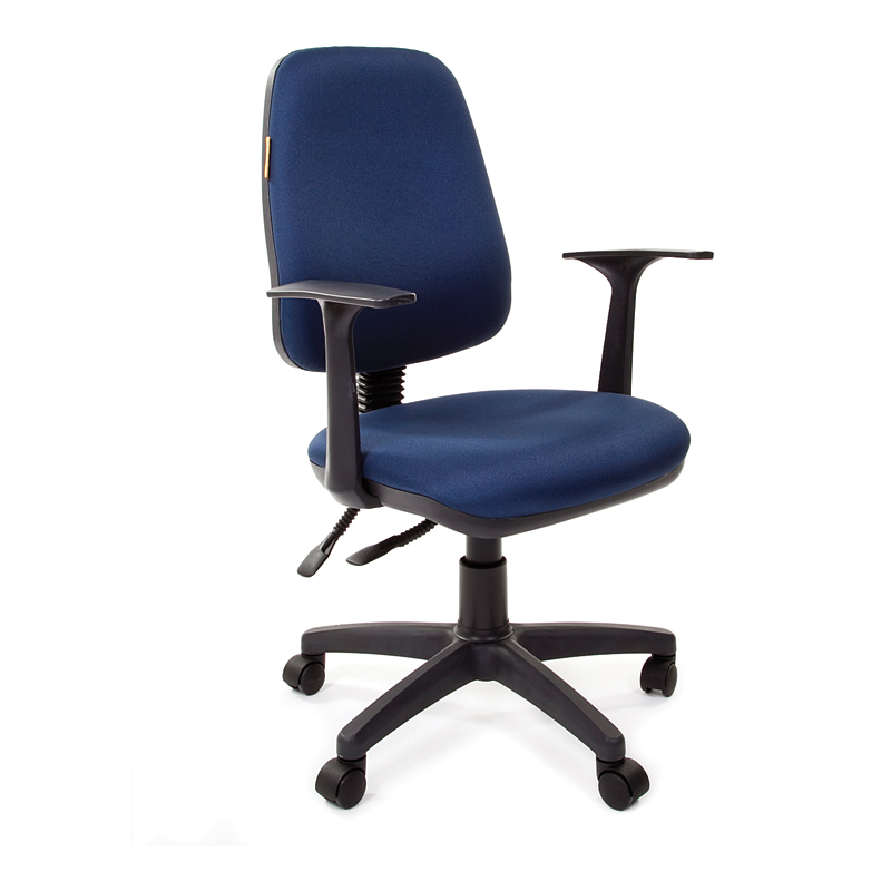 Biroja krēsls CHAIRMAN 661 melns pamats, zils audums