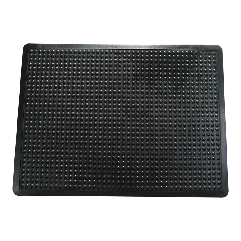 Ergonomisks segums grīdai FLOORTEX, 71 x 78 cm, melnā krāsa