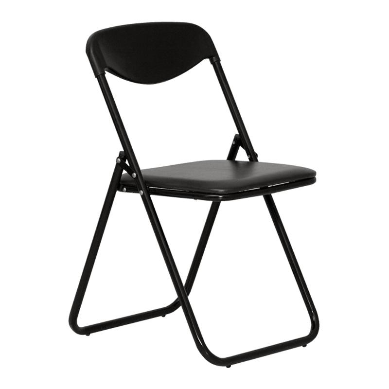 Konferenču krēsls NOWY STYL JACK saliekams, melnas ādas imitācija