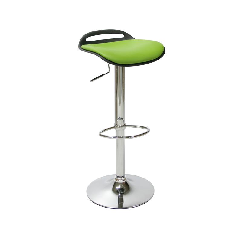 Krēsls bāra Office4You ALDO ādas imitācija, melnā/zaļā krāsā