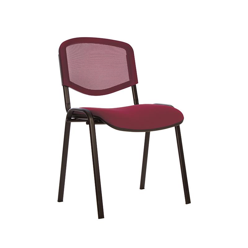 Konferenču  krēsls NOWY STYL ISO NET BLACK C-29, OH4, bordo