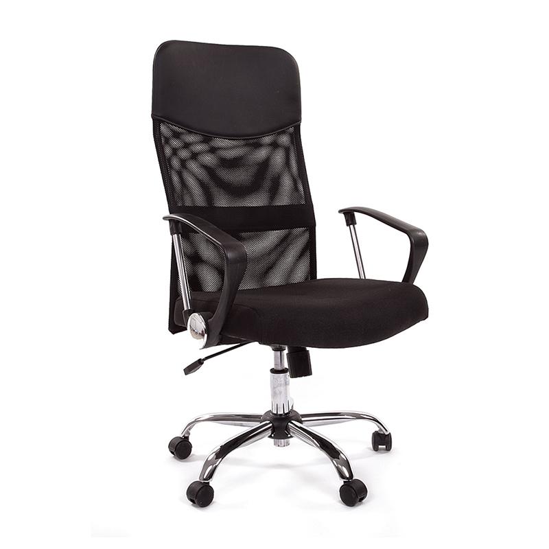 Biroja krēsls CHAIRMAN 610 hromēts pamats, melns audums